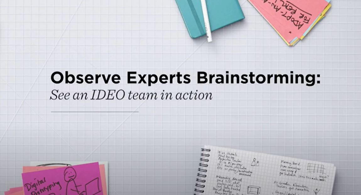 IDEO Brainstorming Video from IDEO U