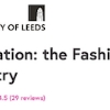 Innovation: the Fashion Industry  Course