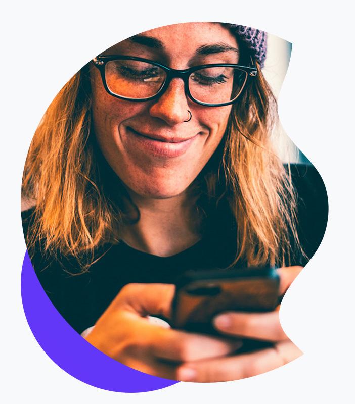 lady using emma app