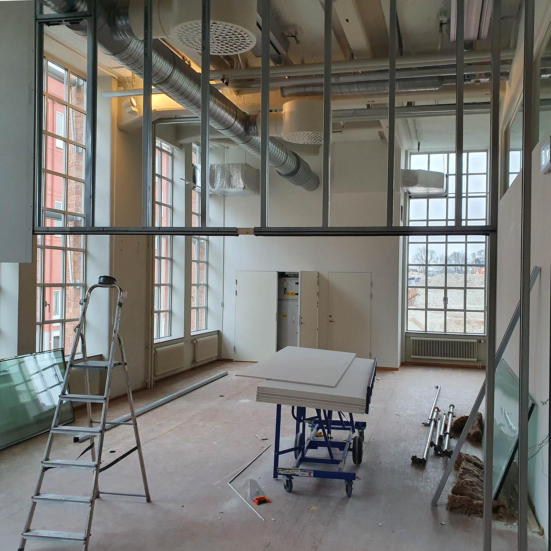 Byggprojekt stålreglar