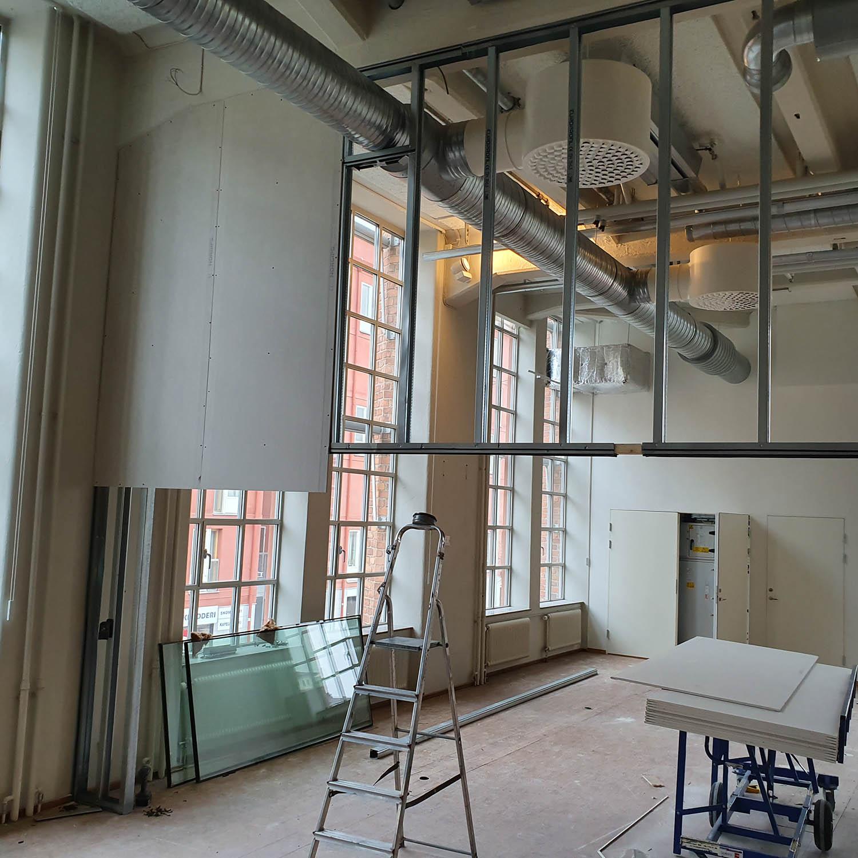 Byggprojekt reglar och gips