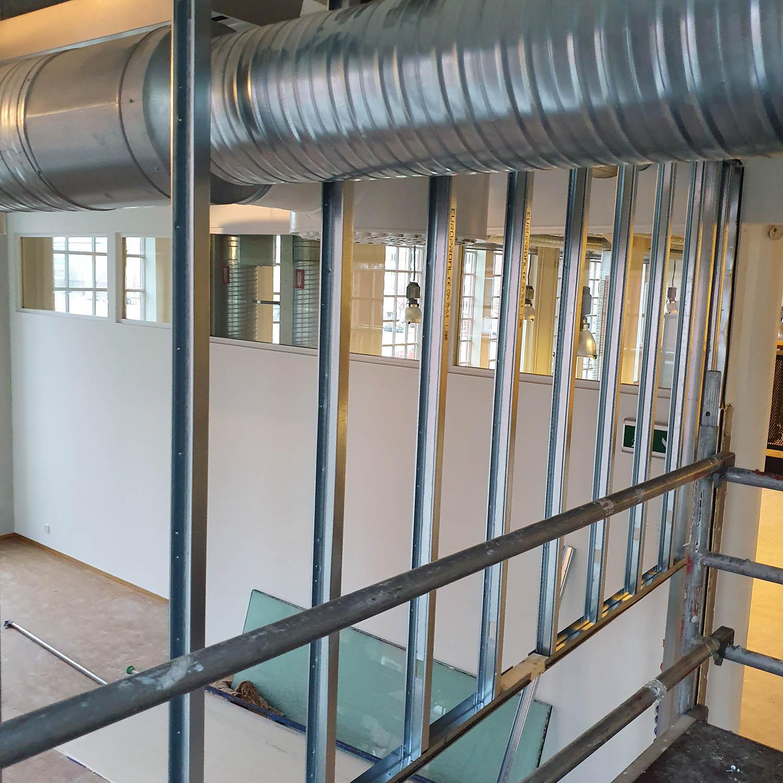 Byggprojekt stålreglar och ventilation