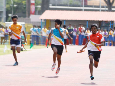 GIIS Singapore Students Playing Athletics and other Sports