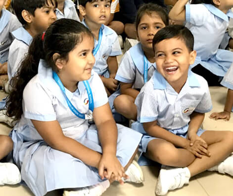 GIIS Singapore SMART CAMPUS Kindergarten Children Happy and Smiling