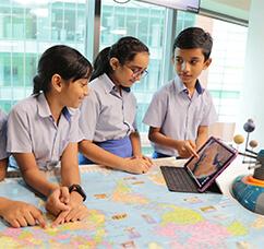 Global Indian international School Primary School Students using Technology , Tablet , LMS for regular studies