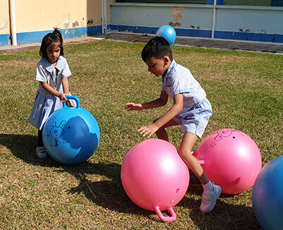 GIIS Singapore East Coast Campus Students Playing in Nursery Play Area