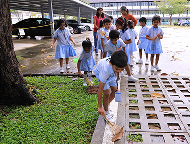 GIIS Preschool Students Learning About Environment awareness