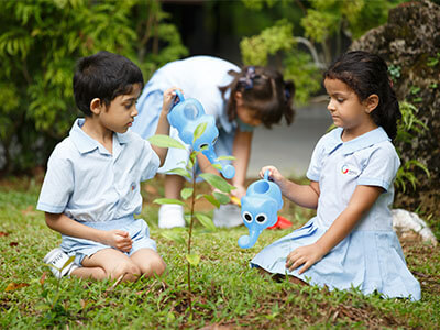 GIIS GMP Children Studying about environment