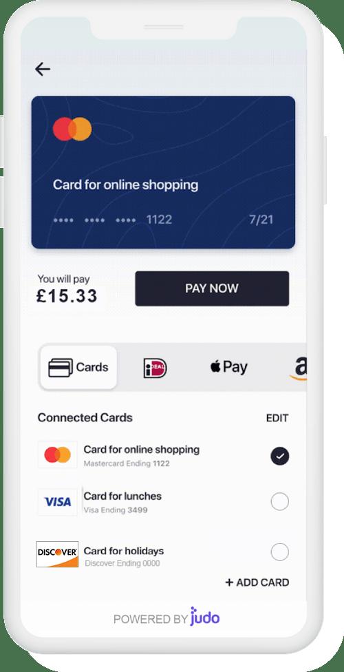 Judopay payment widget