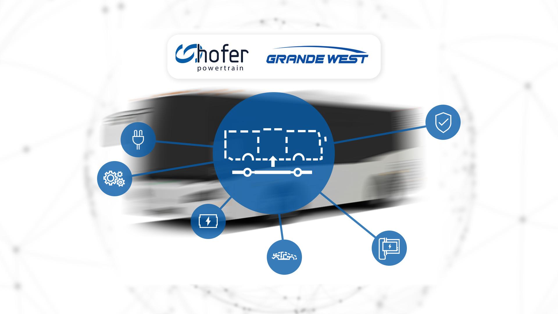Grande West chooses hofer powertrain for EV drivetrain system integration and implementation.