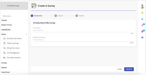 Create a survey
