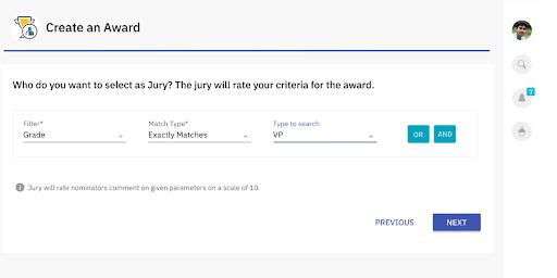 Screenshot of deciding the jury members