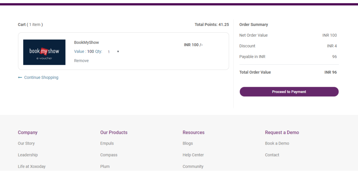 Fig 12: Plum Checkout Page