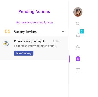 Fig 2: Push notification for the engagement survey