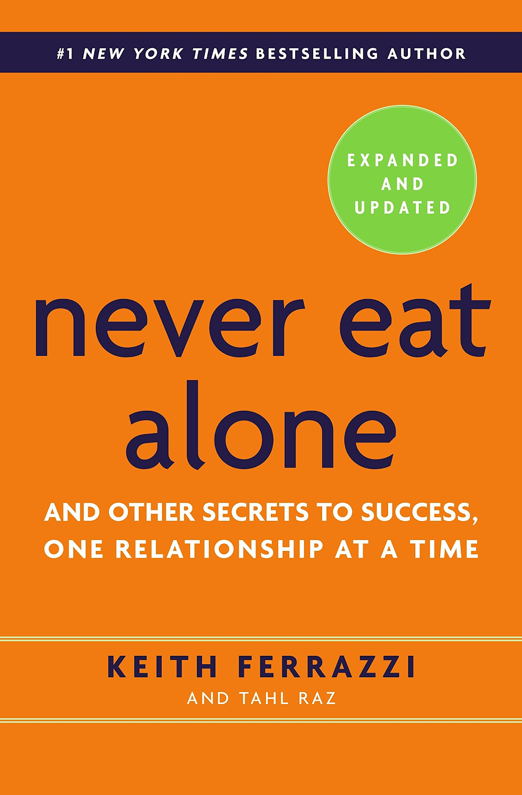 Front page of Never Eat Alone