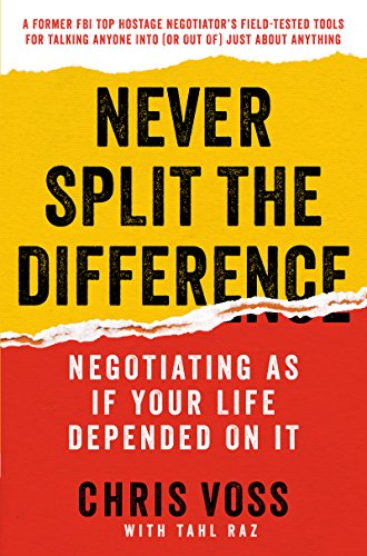 Front page of Never Split the Difference