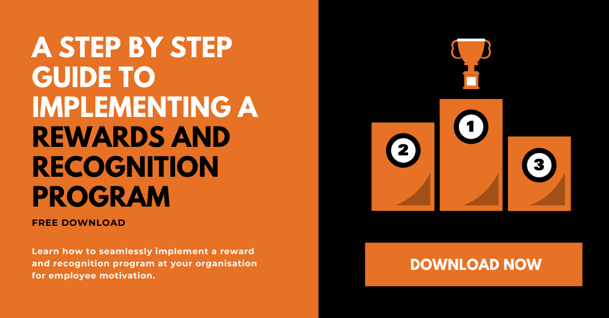 "Ebook on ""A step by step guide to implement a rewards and recognition program"""