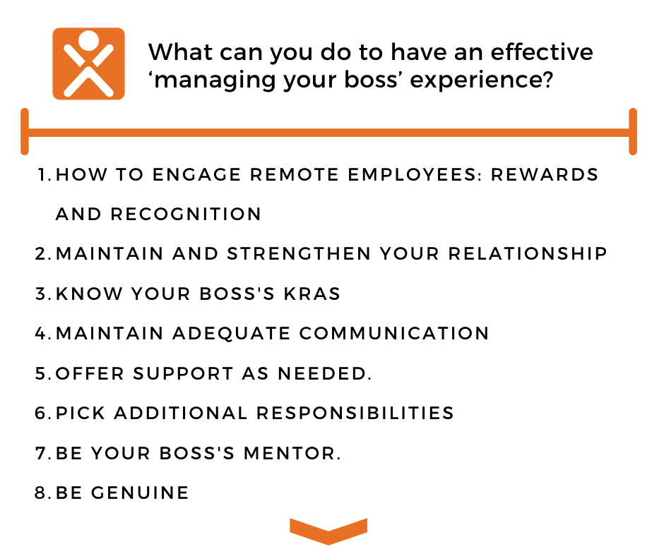 """What can you do to ave an effective """"managing your boss"""" experience?"""