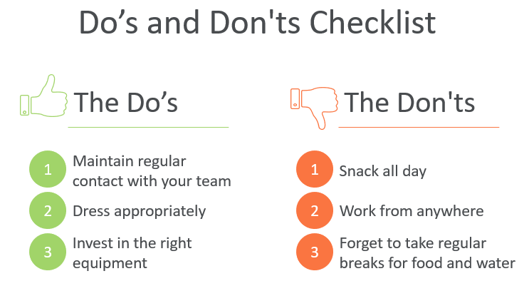 The Do's and Don'ts checklist