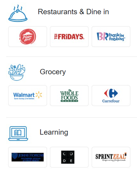 Some of the popular brands in our Xoxoday catalog include.