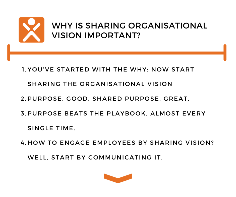 Why is sharing organisational vision important?