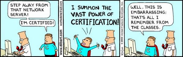 dilbert on certification