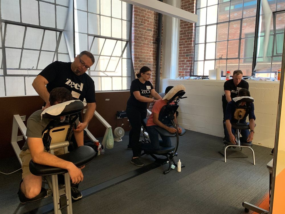 Free onsite employee massages offered at Rally Health, San Francisco