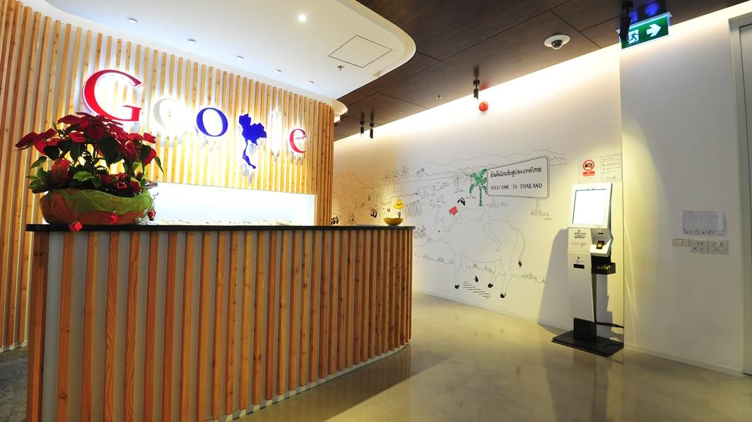 Google's Thailand office reception