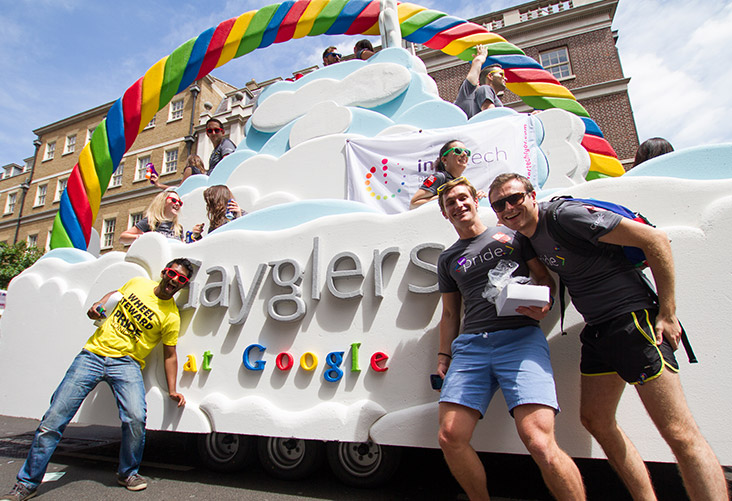 Gaygler members at the London Pride Parade
