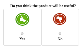 "Poll for ""Do you think product will be useful?"