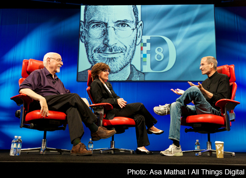 Steve Jobs at the All things Digital conference.