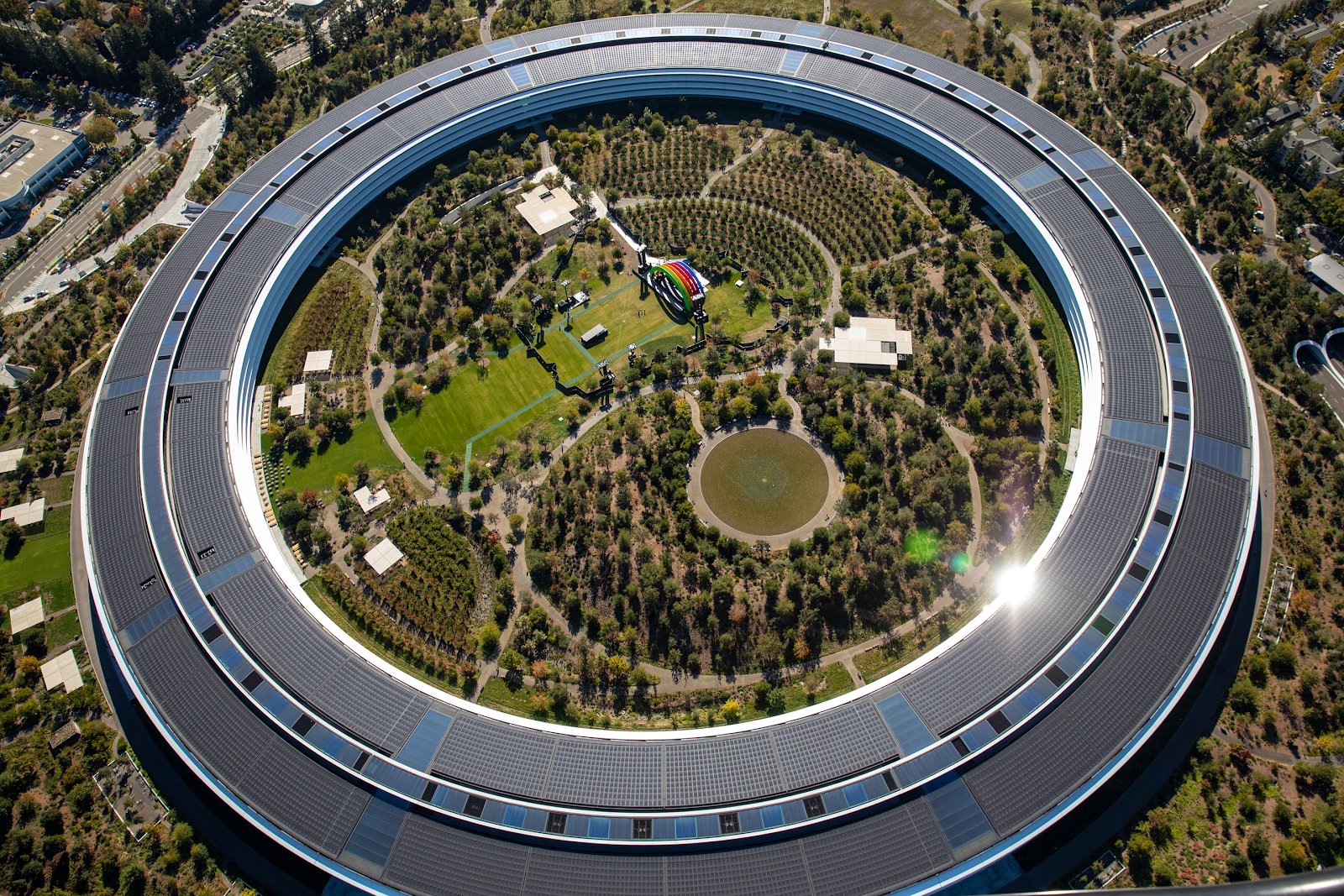 Apple Park at Silicon Valley