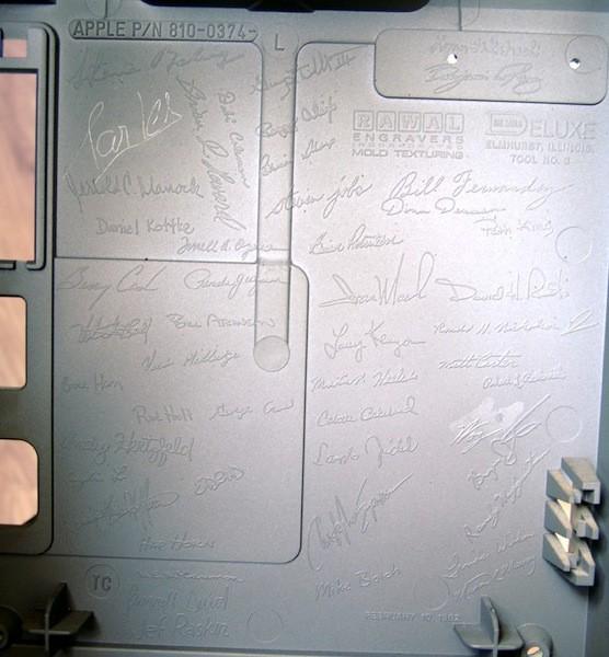 Signatures Inside the Original Macintosh Case