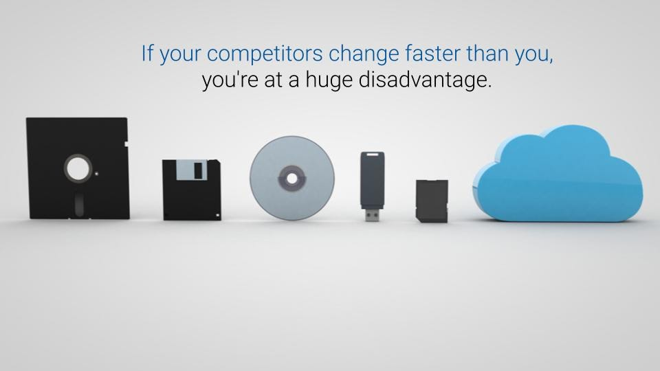 If your competitors change faster than you