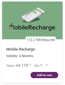 Mobile Recharge Gift Cards