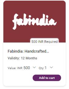 FabIndia Gift voucher at Xoxoday Plum