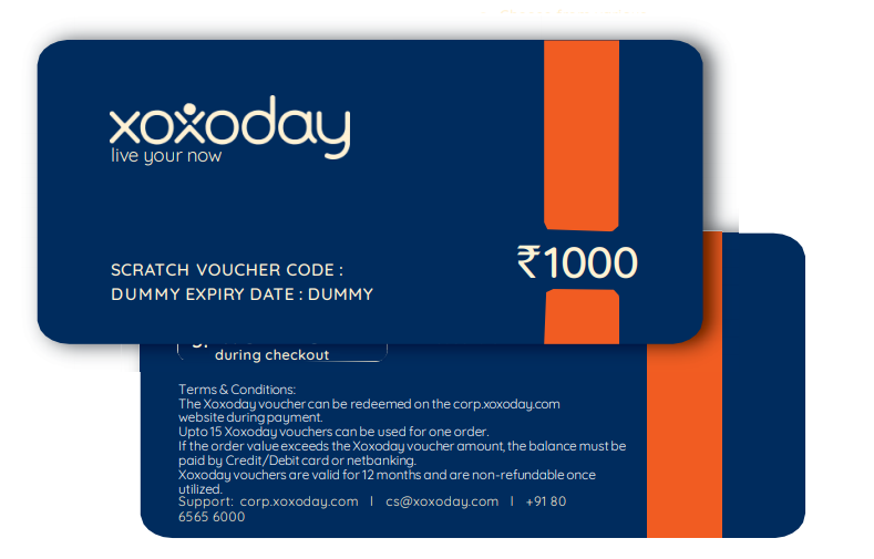 Xoxoday vouchers