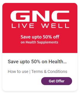 A GNC wellness offer