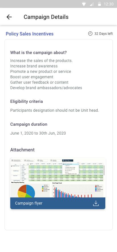 Xoxoday compass screenshot - Campaign setup: Mobile view