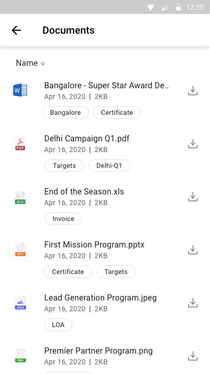 Xoxoday compass screenshot -  The document repository