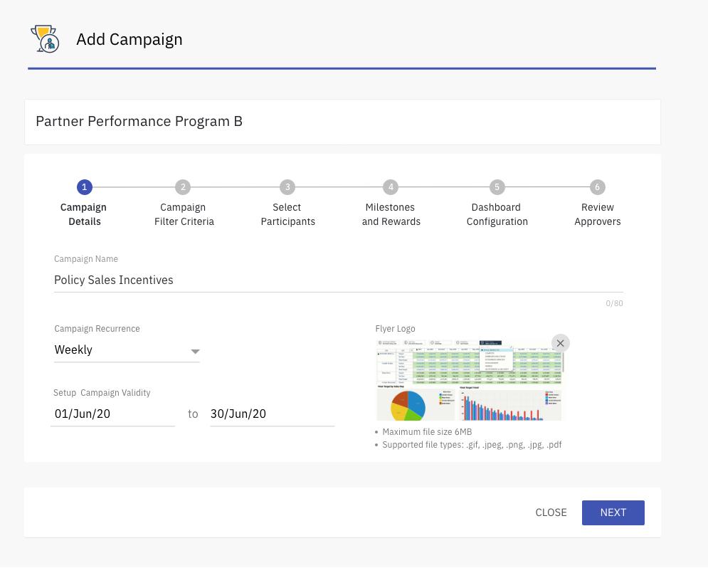 Xoxoday compass screenshot -  - Campaign setup: Desktop view