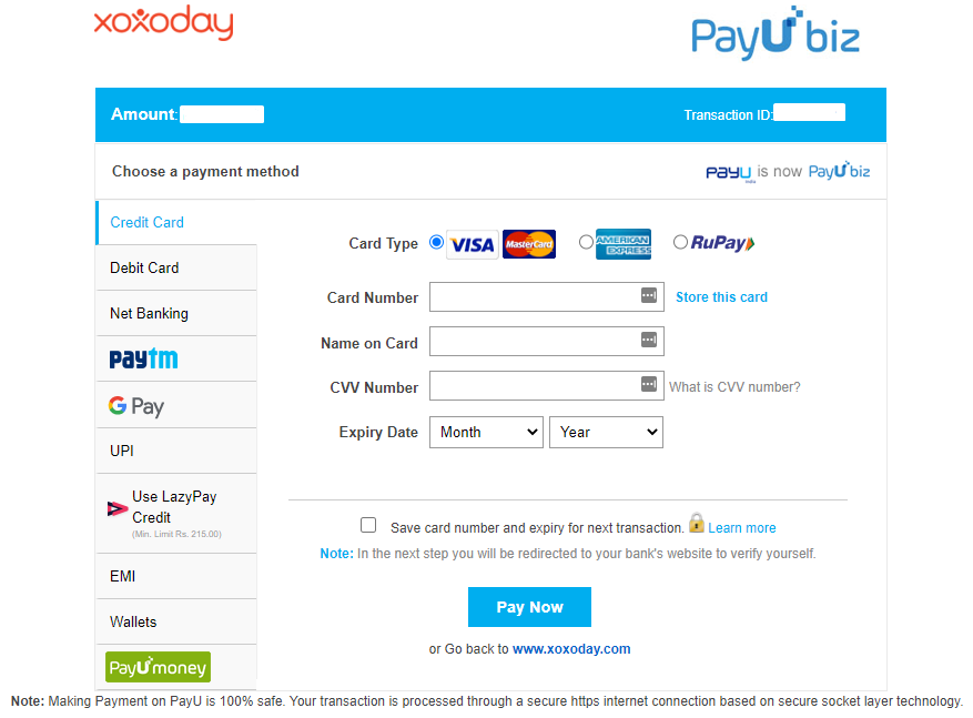 The PayU Payment Portal