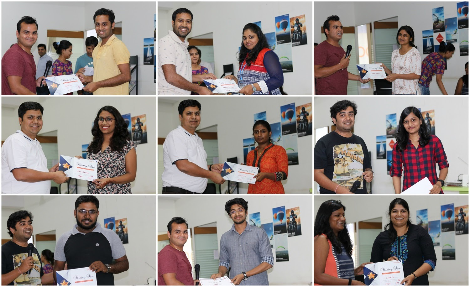The performance award winners for the month of March