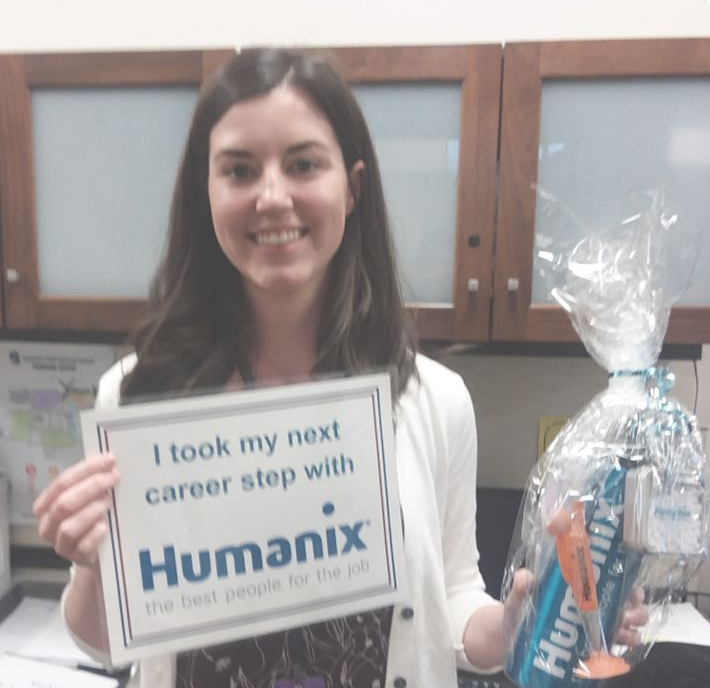 A new hire award at Humanix