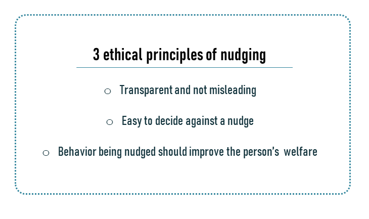 3 ethical principle of nudging