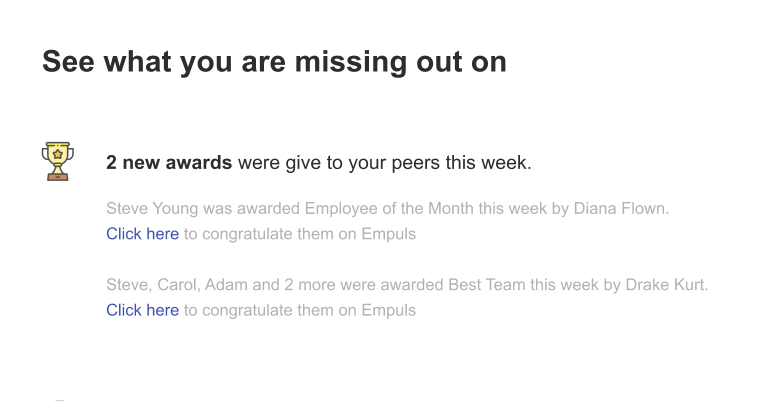 Xoxoday Empuls uses nudges to motivate employees to appreciate