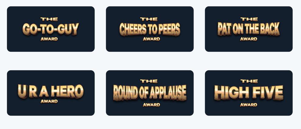 PEER-TO-PEER AWARDS