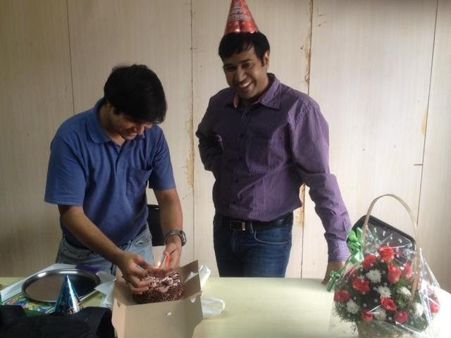 My smile says it all :) - A snap from my 2012 birthday