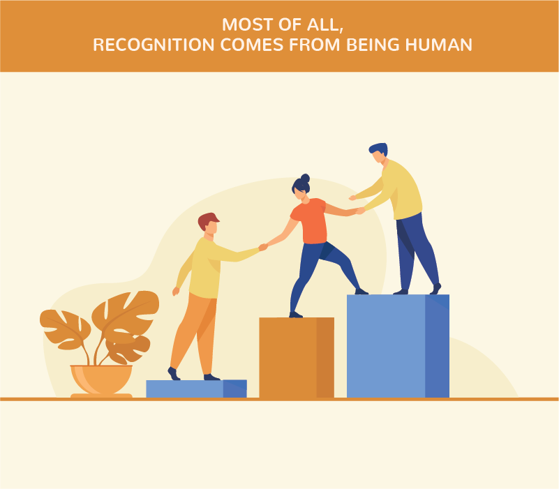 Recognition Comes From Being Human