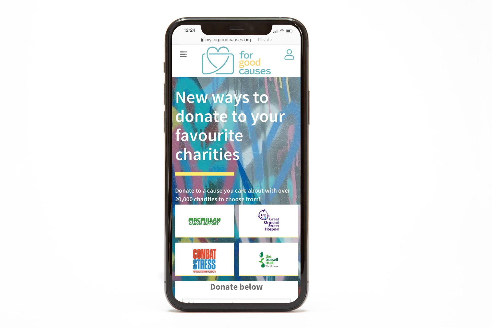 With over 20,000 charities to choose from, users can donate points for causes they care about.